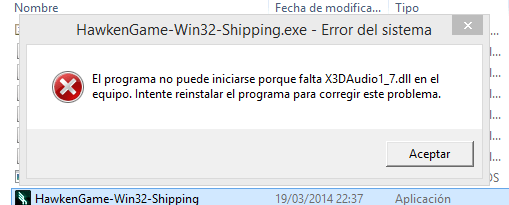 error x3daudio1_7.dll